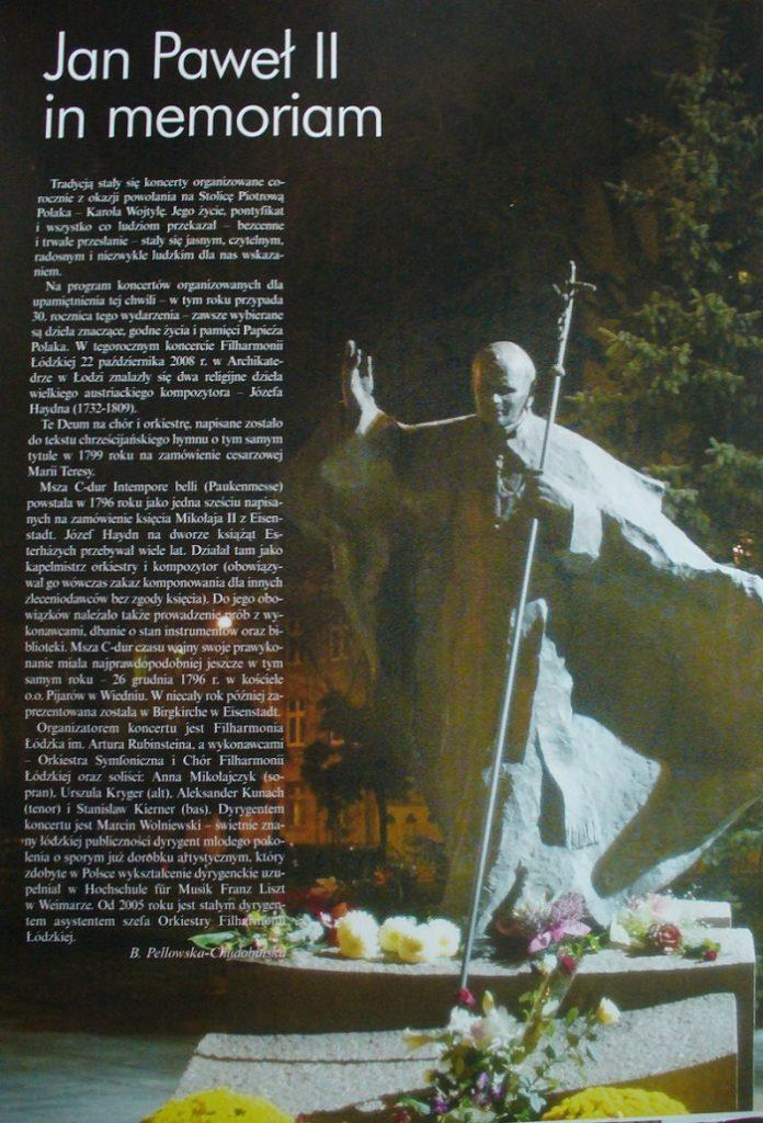 Ilustracja: wycinki z prasy - Jan Paweł II in memoriam.